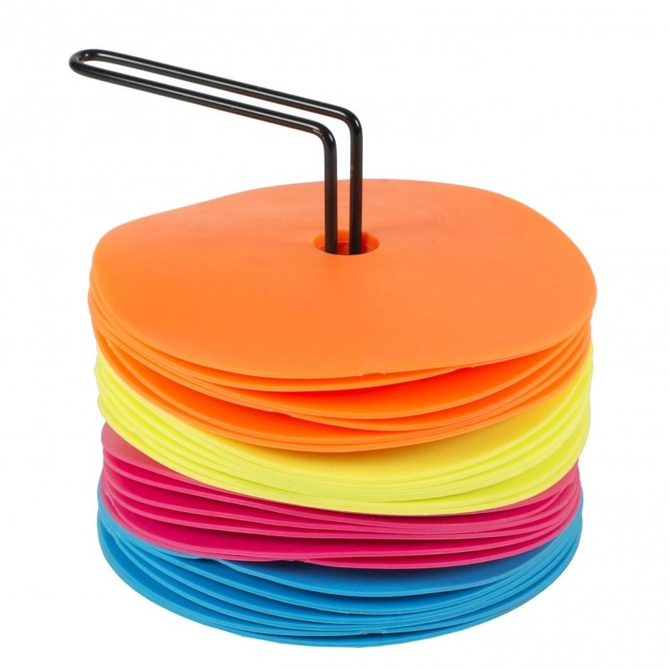 Spordas Set van 24 neon markeringshoedjes