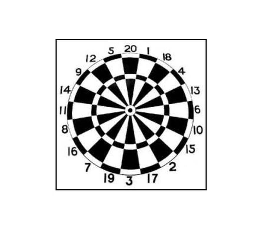Darts Blazoenen 60 x 60cm - per 10